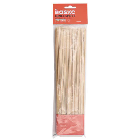 Grillvardad bambusest Ica Basic 100tk