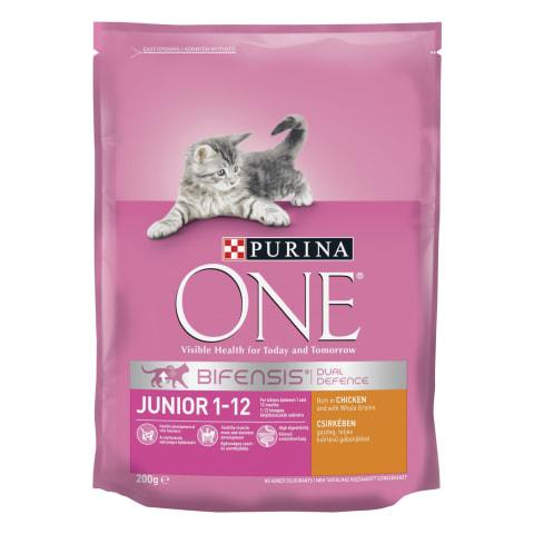 Sausas kačių ėdalas ONE JUNIOR, 200 g