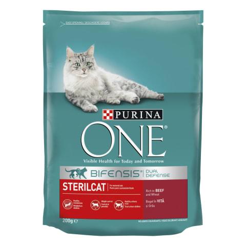 Barība sterilizētiem kaķiem Purina one 200g