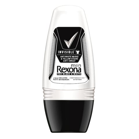 Dezodorants ar rull.Rexona invisible B&W 50ml