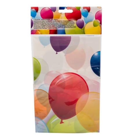 Plastikāta galdauts 120x180cm balloons