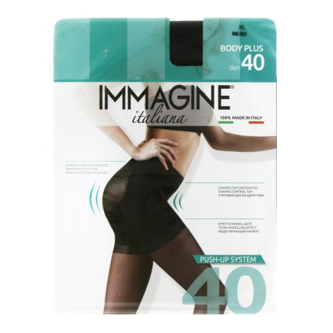 S zeķub.Immagine body plus 40d nero xl