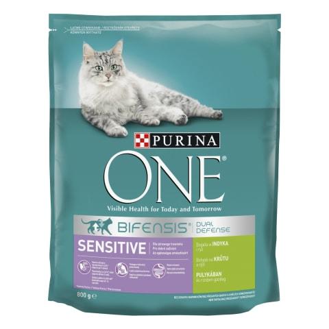 Kaķu barība Purina One ar tītaru 800g