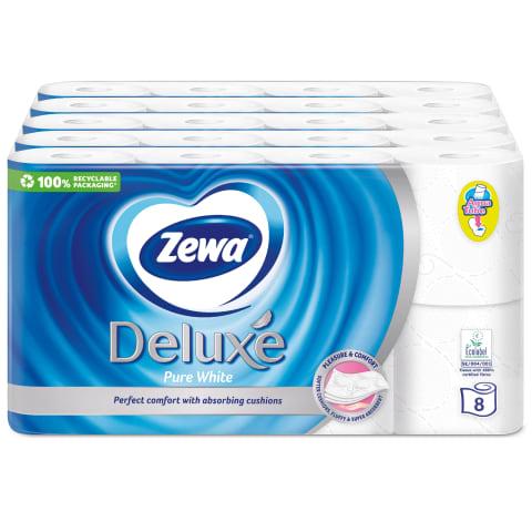 Tualet. pop. ZEWA DELUXE WHITE, 3sl., 40 rit.