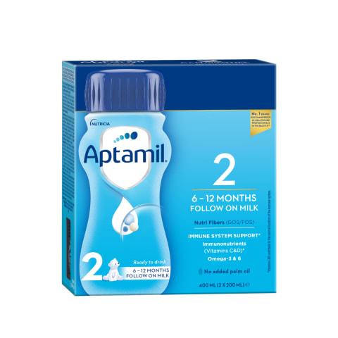 Piena maisījums Aptamil 2 no 6 mēn. 400ml