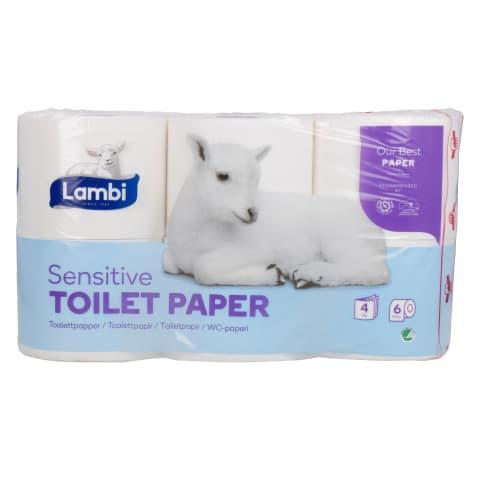 Tualetes papīrs LAMBI SENSITIVE, 6 ruļļi