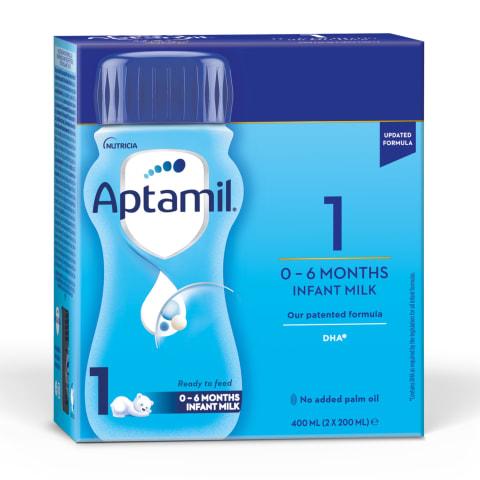 Piimasegu Aptamil 1 al.sünnist 2x200ml