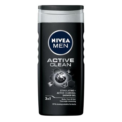 Dušas želeja Nivea active clean vīriešiem