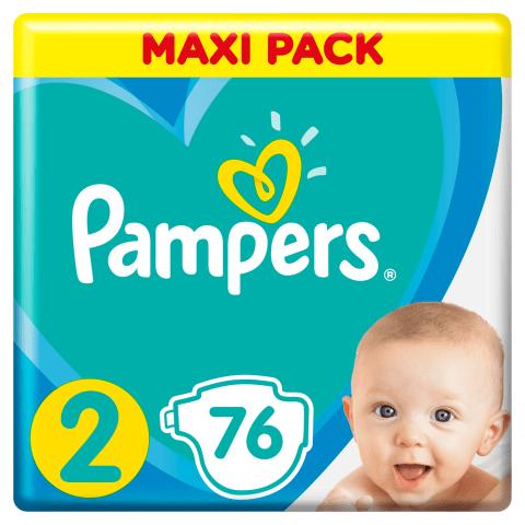 Sausk., PAMPERS NEW BABY VP+2, 3-6kg, 76 vnt.