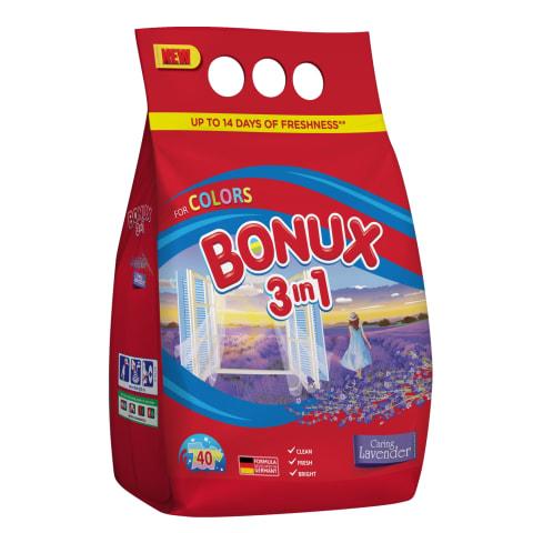 Skalb. milteliai Bonux Lavender 3kg, 40sk.