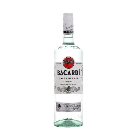 Rumm Bacardi Carta Blanca 37,5% 1,0L