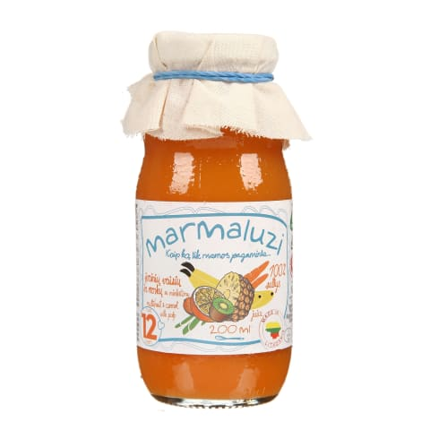 Vaisių morkų sultys MARMALUZI, 6 mėn., 0,2 l