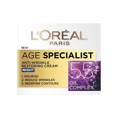 Öökreem L'oreal age specialist 55+ 50ml