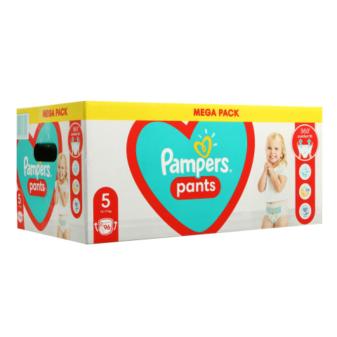 Sausk. PAMPERS PANTS MEGA BOX, 5 dyd.,96vnt.