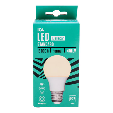 LED Lamp ICA Home A60 6,5W E27 470Lm