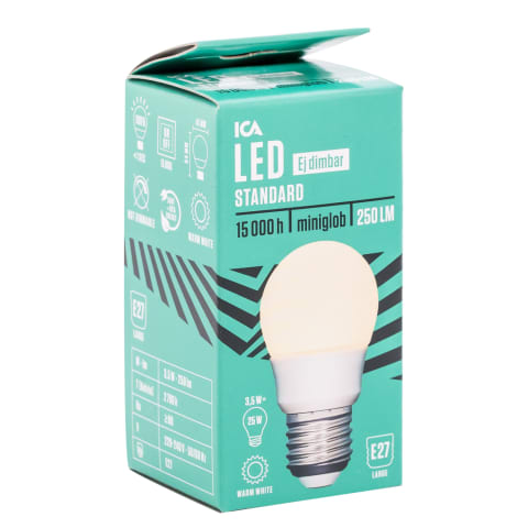 LED spuldze ICA Home gl. 3,5W E27 250lm