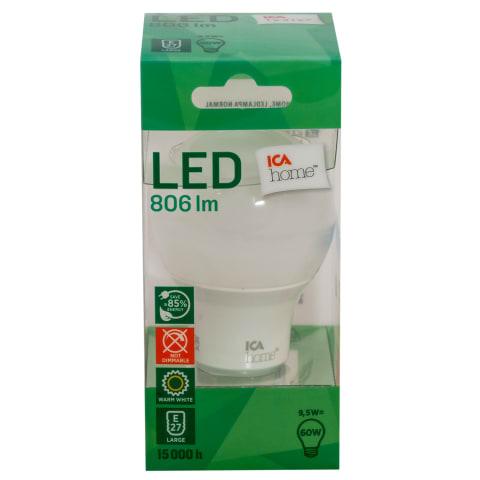 LED lemputė ICA HOME, 9,5 W, 806Lm, E27
