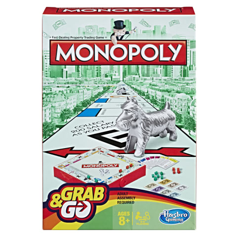 Žaidimas monopolis GRAB & GO HASBRO