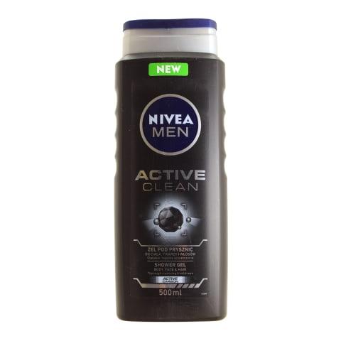 Vyr. dušo želė NIVEA MEN ACTIVE CLEAN, 500ml