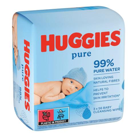Mitrās salvetes Huggies Pure 3x56gb