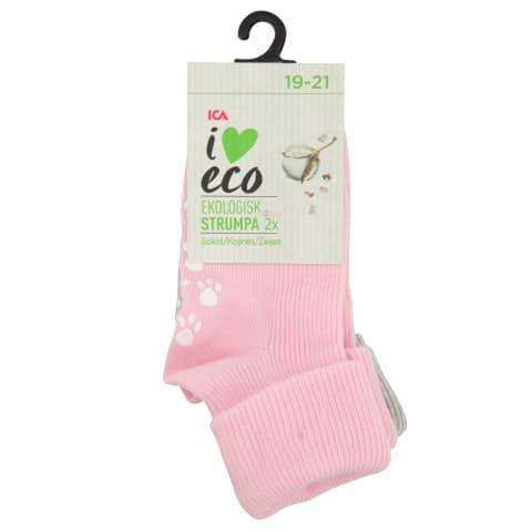 Beebi sokid I Love eco s19-21, 2p