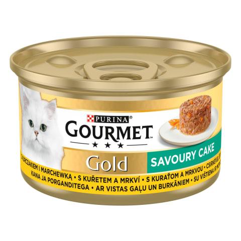 Kačių ėdalas su vištiena GOURMET GOLD, 85 g