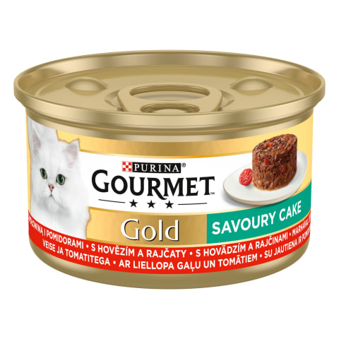 Kačių ėdalas su jautiena GOURMET GOLD, 85 g