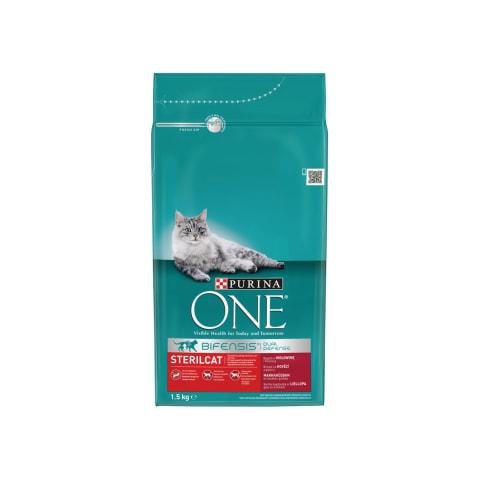 Saus.steril. kačių ėdalas jaut., ONE, 1,5kg