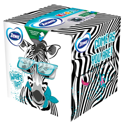 Taskurätikud Zewa kids 3D box 3kiht 60tk