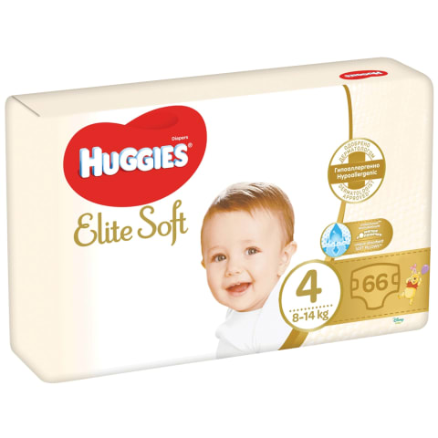 Autiņb. Huggies Elite Soft 4 8-14kg 66gb