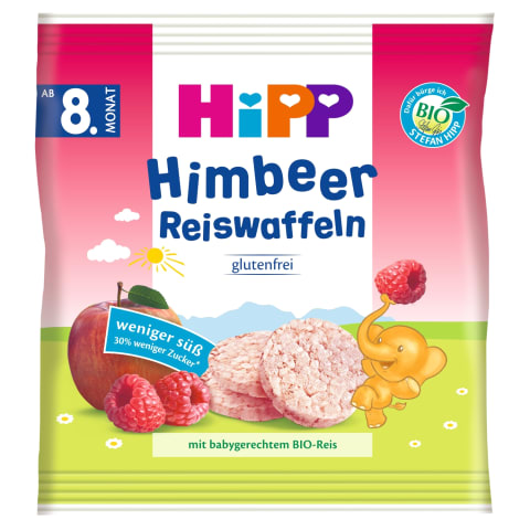 Ekol.av.sk.ryž. paplotėliai HIPP, 8 mėn., 30g