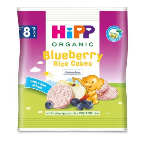 Ekol.ryžių, mėl. paplotėliai HIPP, 8mėn., 30g
