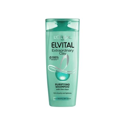 Plaukų šamp.ELVITAL EXTRAORDINARY CLAY, 250ml