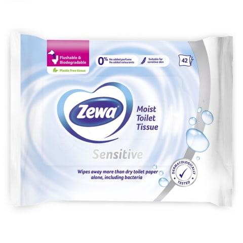 Drėgnas tualetinis popierius ZEWA PURE,42vnt.