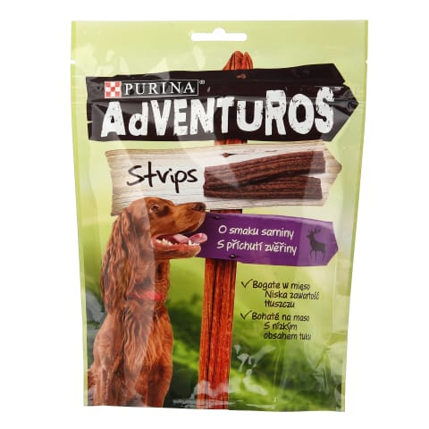 Skanėstai šunims ADVENTUROS STRIPS, 6vnt x90g