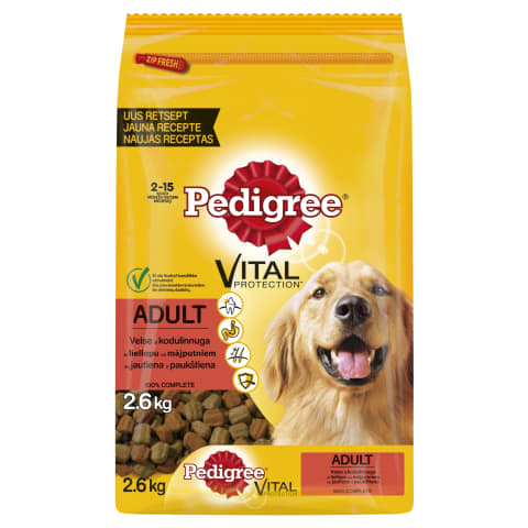 S/b. suņiem Pedigree ar liellopu 2,6kg
