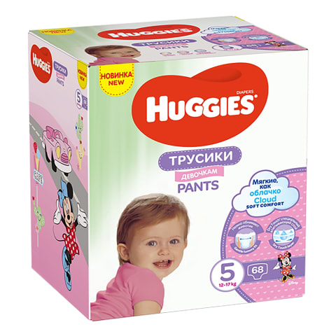 Biks. Huggies girl 5g 12-17kg box 68gb
