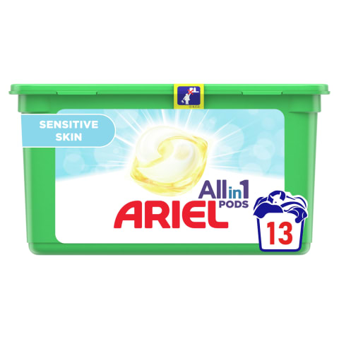 Veļas mazg. kap. Ariel sensetive 14gab