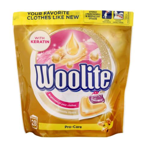 Veļas mazg. kapsulas Woolite Pro Care 28 gab