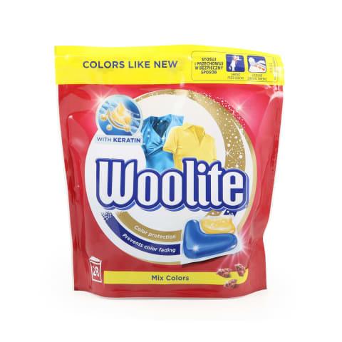 Veļas mazgāšanas kapsulas Woolite color 28gab