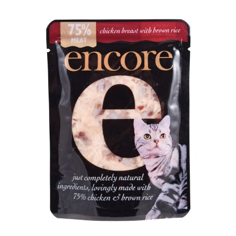 Barība kaķiem Encore ar vistu/rīsiem 70g