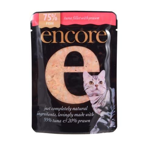 Barība kaķiem Encore ar tunci un garnelēm 70g