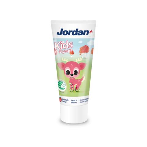 Zobu pasta jordan bērniem, 0-5 gadi,50ml