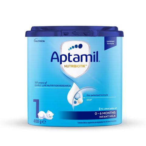 Piena maisījums Aptamil 1 no dzimšanas 400g