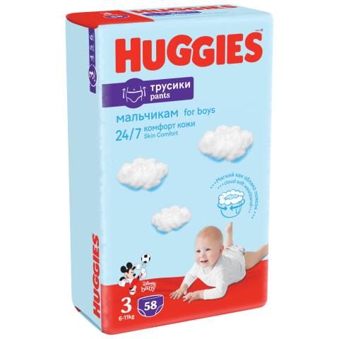 Biksītes Huggies boy mp 3 7-12kg 58gb