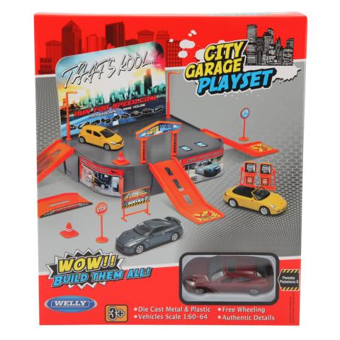 Žaislinis rinkinys automobilių garažas WELLY