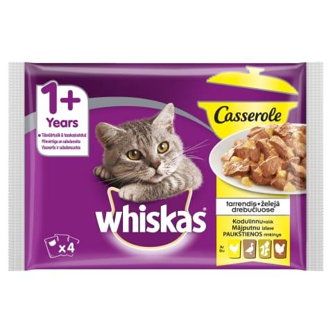 Kaķu konservi Whiskas ar mājputnu 4x85g