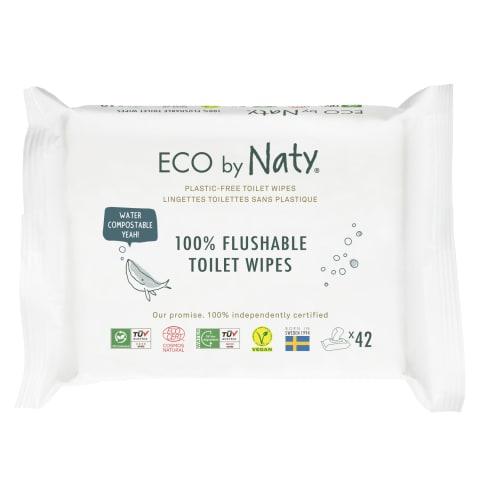 Mitrās salvetes Eco By Naty Flushable 42 gab.