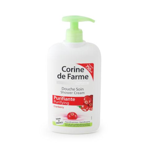 Dušas krēms Corine F dzērveņu, attīrošs 750ml