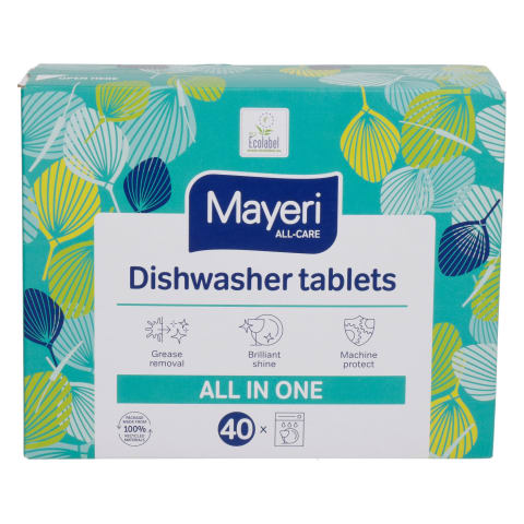 Trauku mašīnas tabletes Mayeri 40 gab